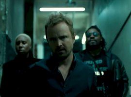 Aaron Paul (center) and Marshawn Lynch (right) in the trailer for Season 3 of 'Westworld'. (Image: HBO)