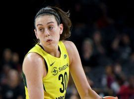 Breanna Stewart signed a new contract with the Seattle Storm, but will also continue to play overseas in Europe. (Image: Ethan Miller/Getty)