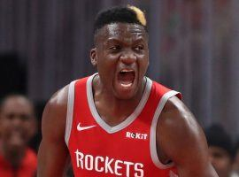 Clint Capela moved from Houston to Atlanta as one of the key pieces in a huge 12-player, four-team NBA trade. (Image: Jason Getz/USA Today Sports)