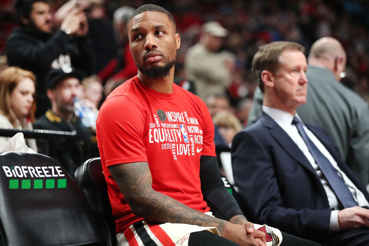 Damian Lillard injury groin miss All-Star Game out Devin Booker