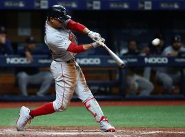 The Red Sox traded Mookie Betts and David Price to the Los Angeles Dodgers as part of a three-team deal. (Image: Kim Klement/USA Today Sports)