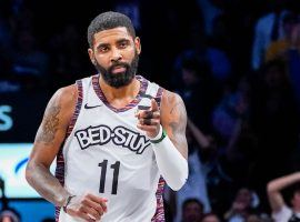Brooklyn Nets guard Kyrie Irving playing at Barclays Center in Brooklyn, NY. (Image: Corey Sipkin/NY Post)