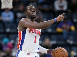 Reggie Jackson, ex-guard with the Detroit Pistons, during a game at Little Caesars Arena in Detroit, MI. (Image: Nelson Chenault/USA Today Sports)