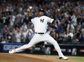 Yankees starting pitcher Luis Severino during a game at the end of the 2019 season in the Bronx, NY. (Image: Elsa/Getty)
