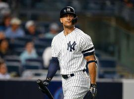 NY Yankees outfielder Giancarlo Stanton strikes out in Yankee Stadium in the Bronx. (Image: Noah K. Murray/Getty)
