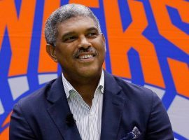 Former New York Knicks president Steve Mills. (Image: Julie Jacobson/AP)
