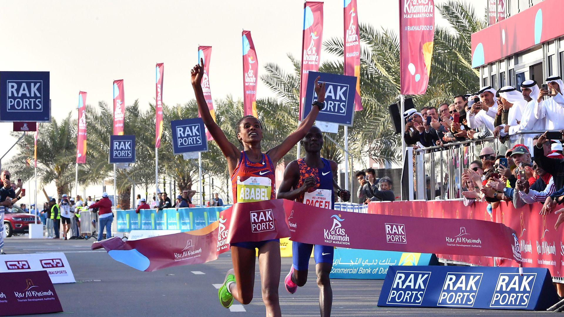 Yeshaneh breaks half marathon record wearing Nike Vaporflys