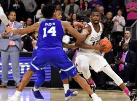 Providence Friars guard Alpha Diallo drives to the hoop against Seton Hall at Dunkin' Donuts Center in Providence, Rhode Island. (Image: AP)