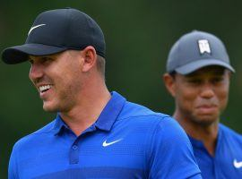 BetOnline has put out a prop bet on how many tournaments Brooks Koepka and Tiger Woods will win in 2020. (Image: Getty)