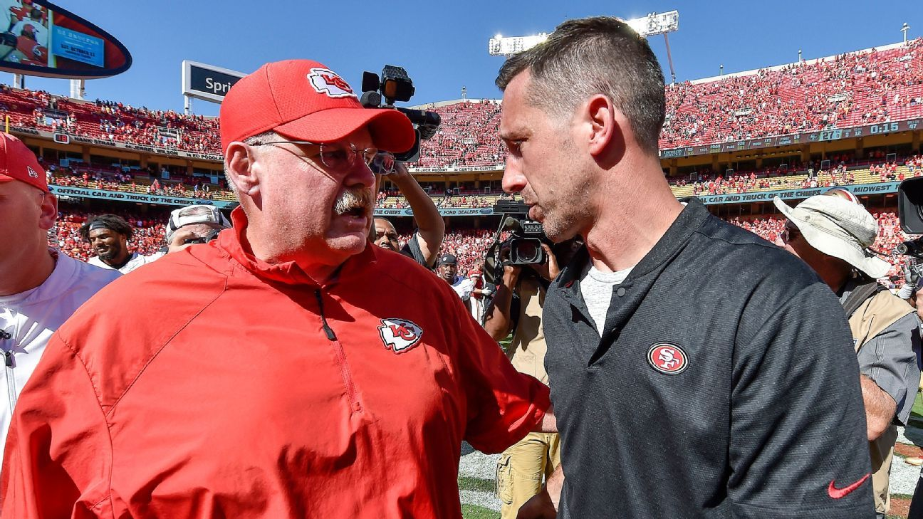 Will Andy Reid and Kyle Shanahan win their conference championships again?