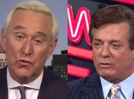 Roger Stone, left, and Paul Manafort are favorites to receive a President Trump pardon, according to odds posted by Bovada. (Image: Getty)