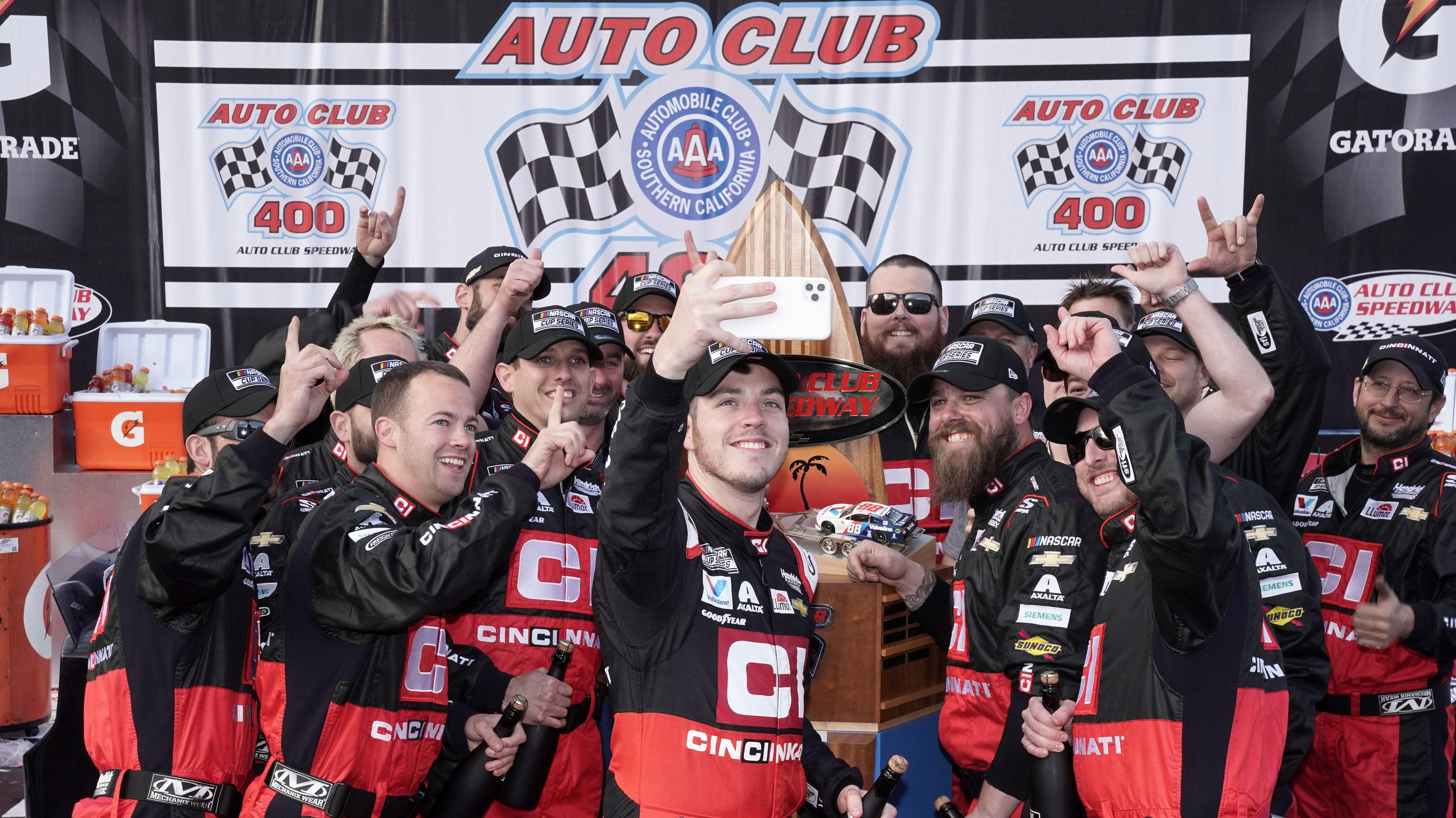 Alex Bowman NASCAR Fontana
