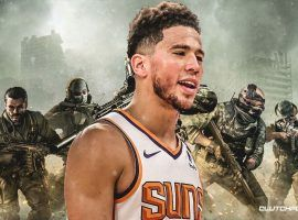 Devin Booker, All-Star shooting guard from the Phoenix Suns, is the top Call of Duty gamer in the NBA. (Image: Clutch Points)