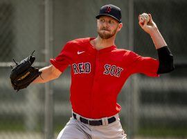 The Boston Red Sox have asked for a third opinion on an MRI of Chris Sale's injured left elbow. (Image: Billie Weiss/Boston Red Sox/Getty)