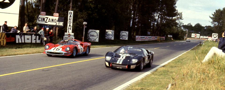 Ford passes Ferrari in the 1966 24 Hours of Le Mans