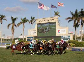 Gulfstream Park, the site of this Saturday's Florida Derby, is one of two American parks to institute regulations that jockeys and their agents are trying to navigate. (Image: Gulfstream Park)