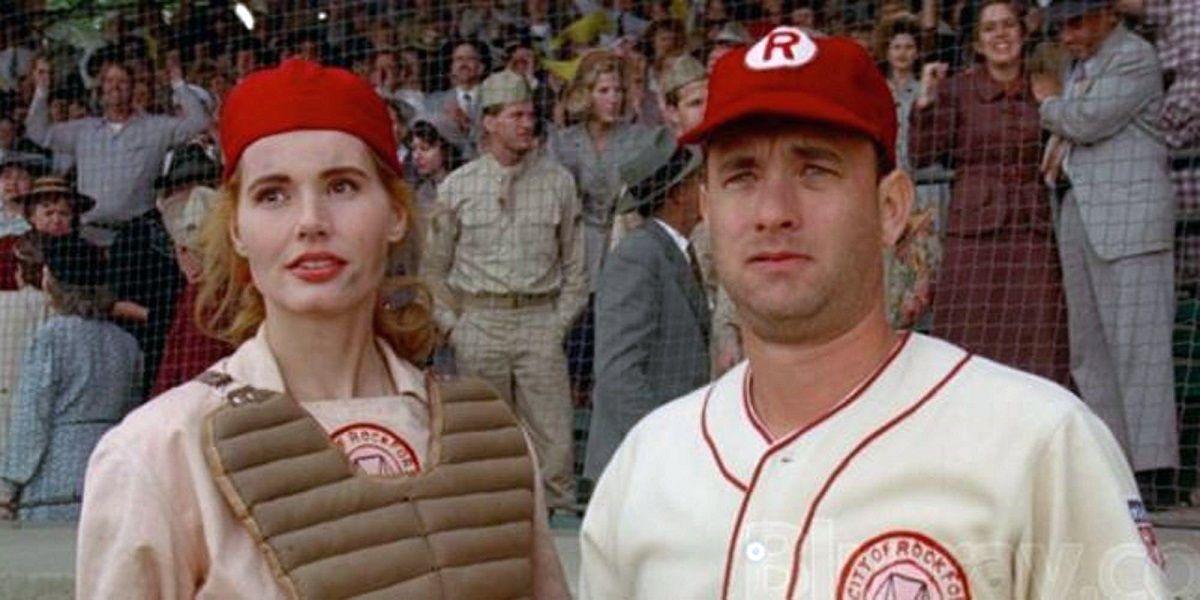 Baseball movies League of Their Own Geena Davis Madonna Tom Hanks women baseball