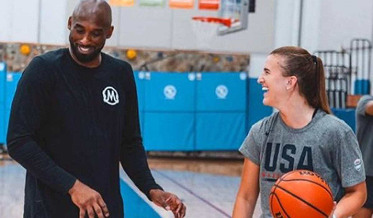 Sabrina Ionescu and Kobe Bryant