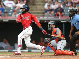 Anaheim Angels outfielder prospect Jo Adell is the type of player who can get long looks in spring training, an important factor when drafting DFS spring training lineups. (Image: Yahoo Sports)