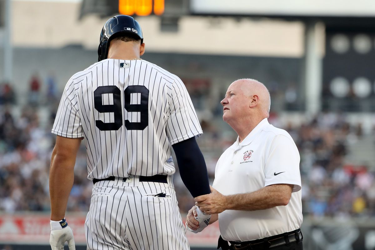 Aaron Judge NY Yankees rib injury fractured surgery
