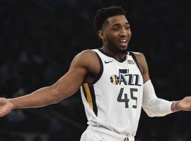 Utah Jazz star Donovan Mitchell during a game against the New York Knicks at Madison Square Garden in New York City. (Image: Sarah Stier)