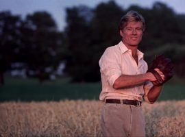 Roy Hobbs (Robert Redford) playing catch in 'The Natural' directed by Barry Levinson. (Image: TriStar)
