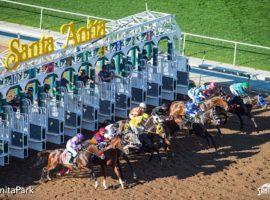 Santa Anita won't spring horses for the Santa Anita Derby Saturday. Despite fervent lobbying by track officials, Santa Anita remains closed by order of the Los Angeles County Health Department. (Image: Santa Anita Park)