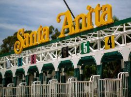 The starting gate at iconic Santa Anita Park will stay empty for the foreseeable future after county health officials closed the track Friday morning. (Image: Santa Anita Park)