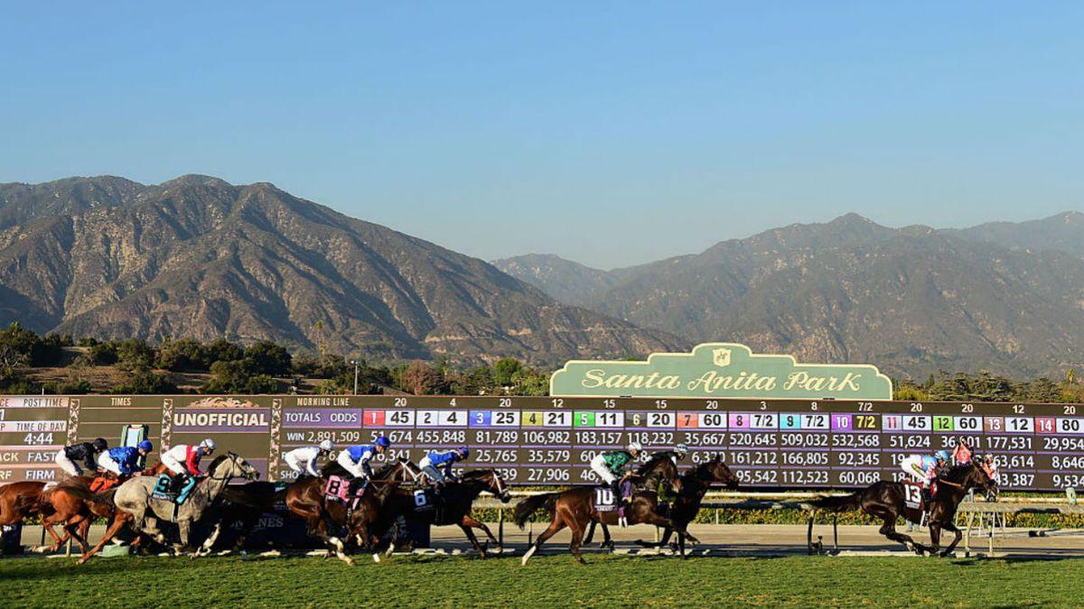 horse racing at Santa Anita
