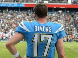 Philip Rivers playing in one of hos last games with the Los Angeles Chargers in 2019. (Image: Getty)