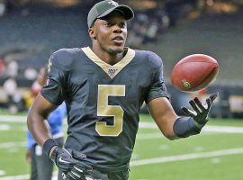 Teddy Bridgewater during warmups for the New Orleans Saints at the Superdome. (Image: Ryan Mansfield/Getty)