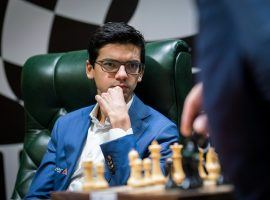 Anish Giri (seen here playing at the 2020 Candidates Tournament) scored a memorable victory over Magnus Carlsen in Round 5 of the Magnus Carlsen Invitational. (Image: Lennart Ootes/FIDE)