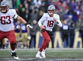 Washington State quarterback Anthony Gordon during the Apple Cup against Washington in Seattle. (Image: Tyler Tjomsland/Spokesman-Review)