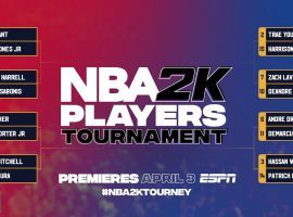 Sixteen NBA players will compete in a NBA 2K eSports tournament with all proceeds going to charity. (Image: NBA)