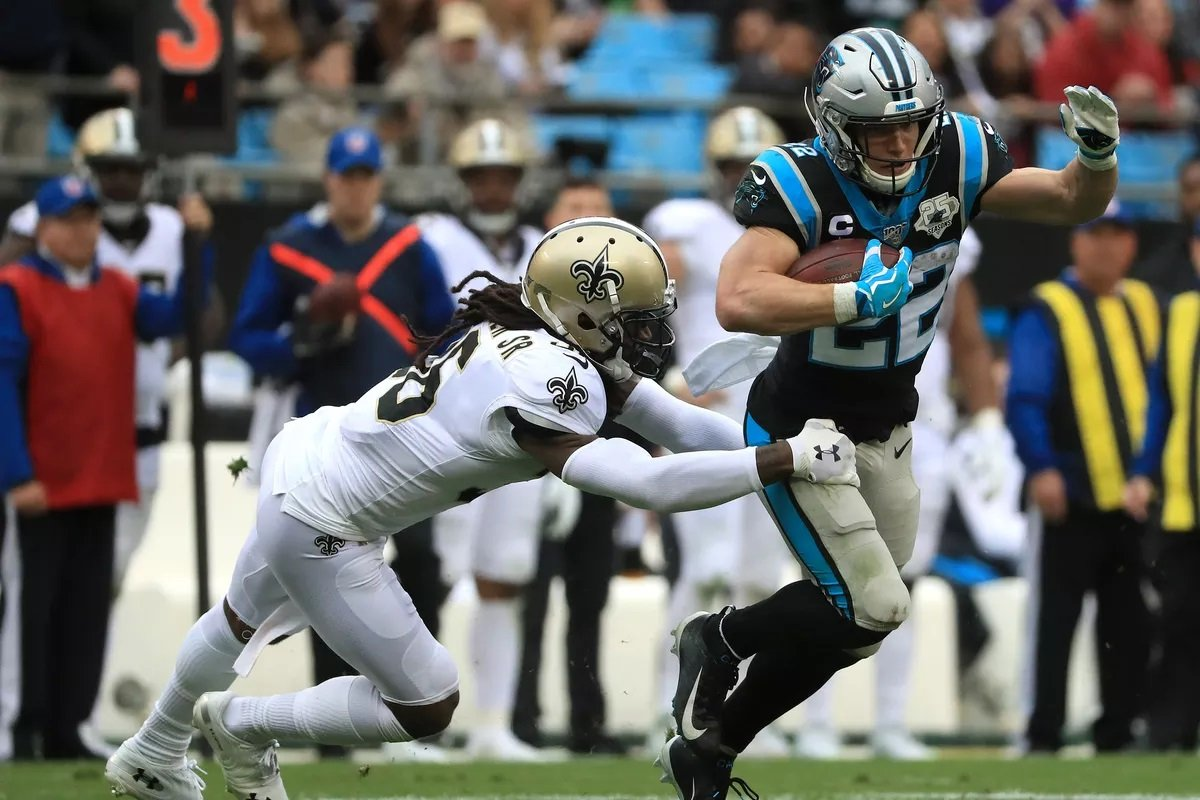 Christian McCaffrey Carolina Panthers Highest Paid RB