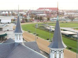 "The iconic twin spires of Churchill Downs will ""virtually"" ower over the inaugural Virtual Kentucky Derby May 2. (Image: Churchill Downs)"