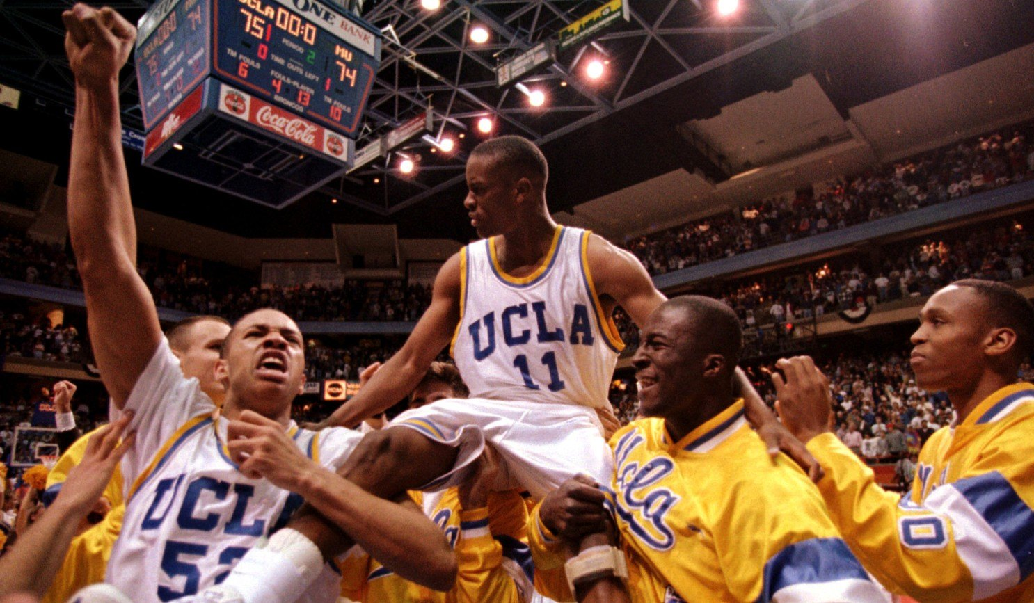 UCLA Tyus Edney 1995 March Madness Bruins Shot