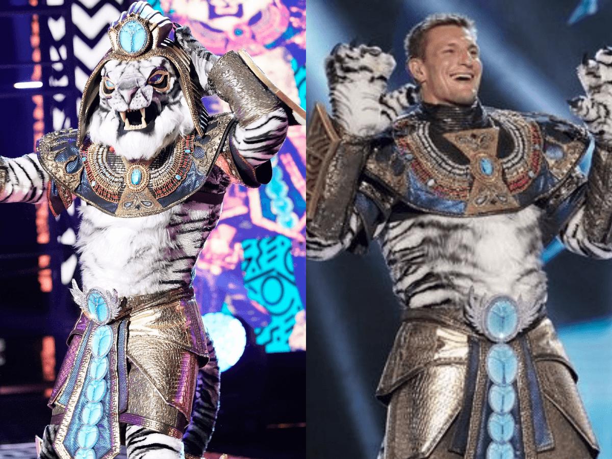 Rob Gronkowski Gronk Masked Singer White Tiger I'm Too Sexy