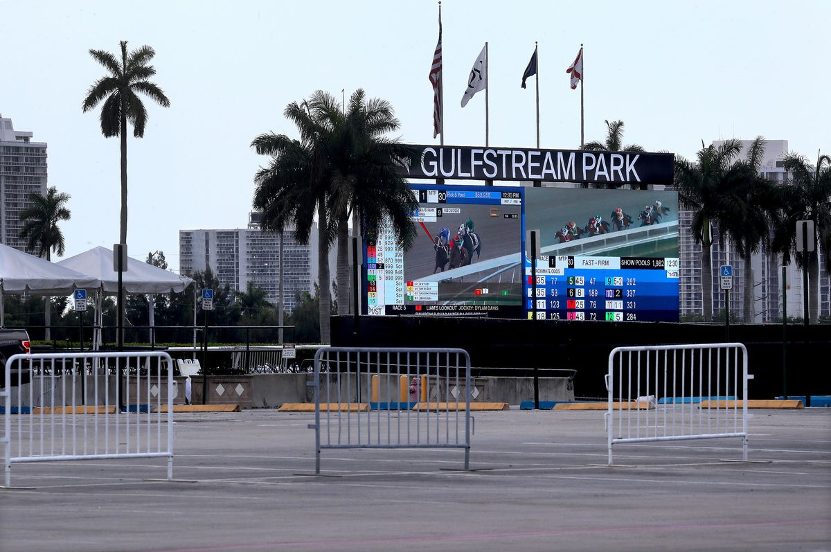 Empty Gulfstream Park parking lot