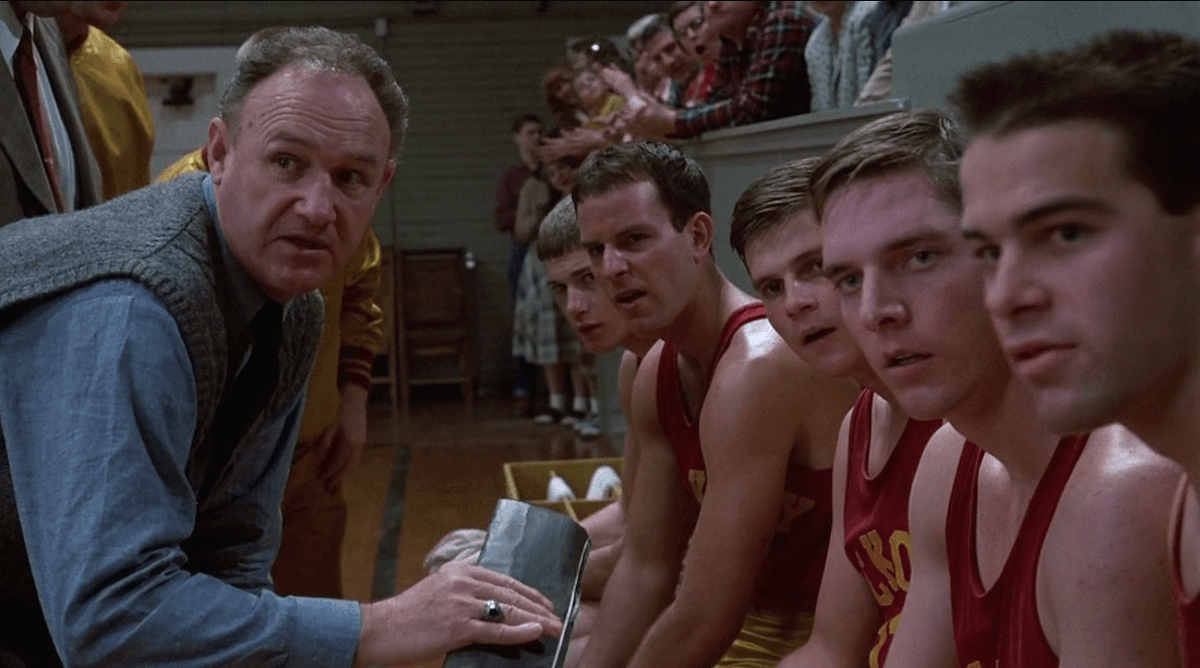 Hoosiers Gene Hackman Jimmy Chitwood basketball movie Hickory Indiana