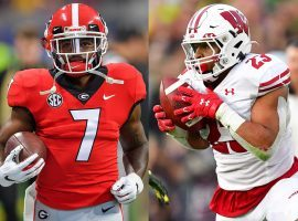 Georgia RB D'Andre Swift and Wisconsin RB Jonathan Taylor are the top two running back prospects heading into the 2020 NFL Draft. (Image: NFL.com/Getty)
