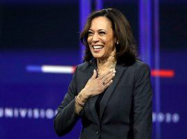 California Sen. Kamala Harris won't look surprised if she is named Joe Biden's running mate. Neither should bettors. (Image: Chris Carlson/AP)