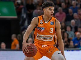 Killian Hayes, point guard for Ratiopharm Ulm in the German basketball league, is a projected first round pick. (Image: Harry Langer/Getty)