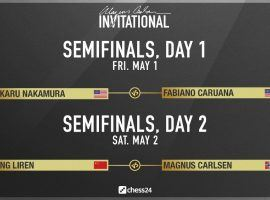 The Magnus Carlsen Invitational semifinals begin on Friday, starting with a matchup between Americans Hikaru Nakamura and Fabiano Caruana. (Image: Chess24.com)