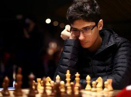 Iranian prodigy Alireza Firouzja (pictured) will face Ding Liren in the first round of the Magnus Carlsen Invitational. (Image: Getty)