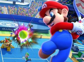 Eight teams of professional tennis stars and celebrity partners will compete in a Mario Tennis Aces tournament for charity this Sunday. (Image: Nintendo)