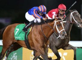 Maximum Security edged Benbatl to win $10 million in the inaugural Saudi Cup in February. Saudi officials froze purse payments pending an investigation surrounding his trainer, Jason Servis. (Image: Reuters)