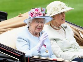 Queen Elizabeth II, seen arriving with Princess Alexandra for the 2018 Royal Ascot meet, is a fixture at Royal Ascot's summer meet. It may run behind closed doors this year. (Image: NBC Sports)