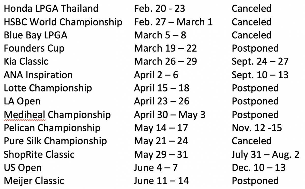 LPGA Schedule