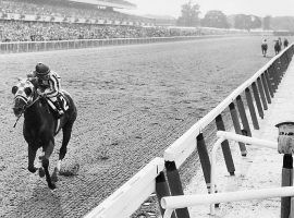 The most iconic photo in horse racing history: Secretariat's 31-length victory in the 1973 Belmont. Could we see a virtual repeat of this in the Kentucky Derby Triple Crown Challenge? (Image: Bob Coglianese)